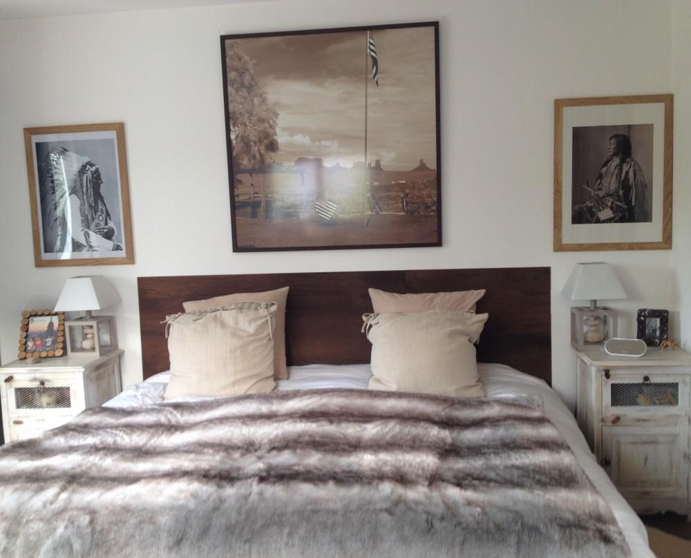 Habillage t te de lit quelques inspirations - Tete de lit vieux bois ...