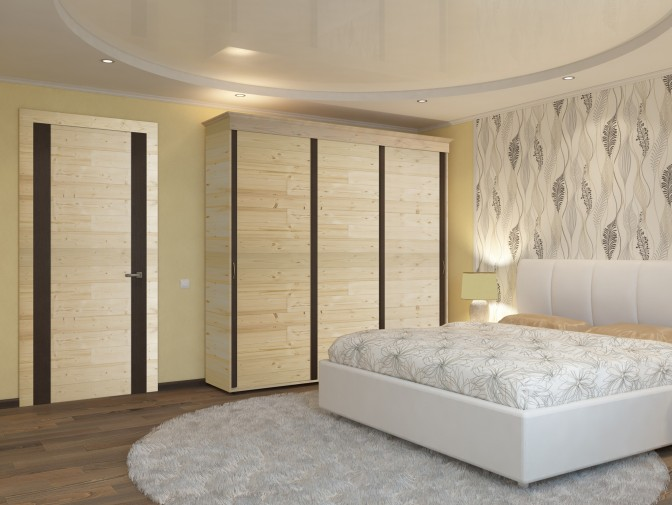 d coration de porte et de placards quelques inspirations stickwood lames de bois. Black Bedroom Furniture Sets. Home Design Ideas